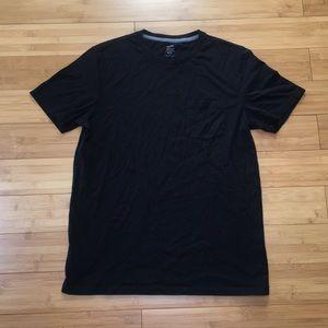 Old Navy Soft Washed Black Pocket T Shirt Black